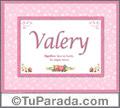 Valery, nombre, significado y origen de nombres