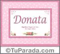 Nombre Tarjeta con imagen de Donata para feliz cumpleaños