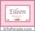 Nombre Tarjeta con imagen de Eileen para feliz cumpleaños