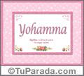 Nombre Tarjeta con imagen de Yohamma para feliz cumpleaños