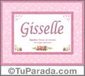 Gisselle, nombre, significado y origen de nombres