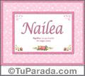 Nailea, nombre, significado y origen de nombres