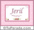 Jeril, nombre, significado y origen de nombres