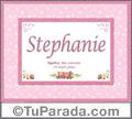 Stephanie, nombre, significado y origen de nombres