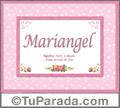 Mariangel, nombre, significado y origen de nombres