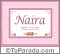 Significado y origen de Naira para imprimir