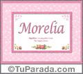 Morelia, nombre, significado y origen de nombres