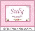 Suly, nombre, significado y origen de nombres