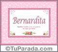Bernardita, nombre, significado y origen de nombres