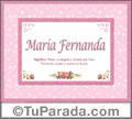 Significado y origen de María Fernanda para imprimir