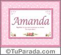 Significado y origen de Amanda para imprimir