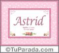 Astrid, nombre, significado y origen de nombres