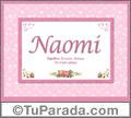 Naomi, nombre, significado y origen de nombres