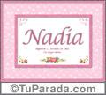 Significado y origen de Nadia para imprimir