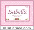 Significado y origen de Isabella para imprimir