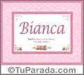 Bianca, nombre, significado y origen de nombres