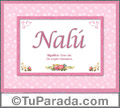 Nombre Tarjeta con imagen de Nalú para feliz cumpleaños