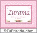 Zurama, nombre, significado y origen de nombres