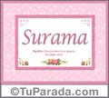 Surama, nombre, significado y origen de nombres