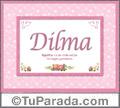 Dilma, nombre, significado y origen de nombres