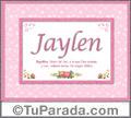 Jaylen, nombre, significado y origen de nombres