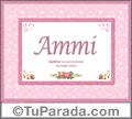 Nombre Tarjeta con imagen de Ammi para feliz cumpleaños