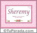 Sheremy, nombre, significado y origen de nombres