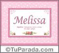 Significado y origen de Melissa para imprimir