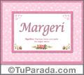 Margeri, nombre, significado y origen de nombres