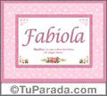 Fabiola, nombre, significado y origen de nombres