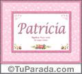Significado y origen de Patricia para imprimir
