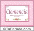 Clemencia, nombre, significado y origen de nombres