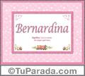 Nombre Tarjeta con imagen de Bernardina para feliz cumpleaños