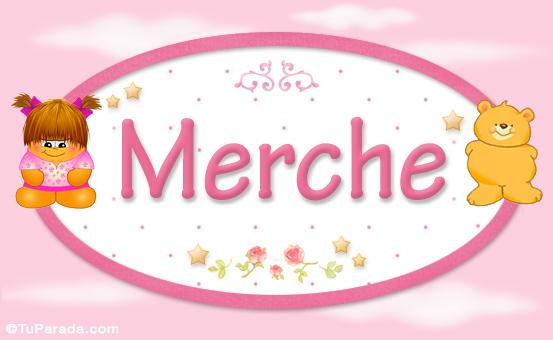 Tarjeta - Merche - Nombre para bebé