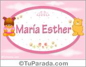 María Esther - Con personajes