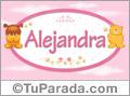 Alejandra - Con personajes