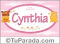 Cynthia - Con personajes