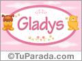 Nombre para bebé, Gladys