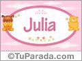 Nombre para bebé, Julia