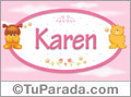 Nombre para bebé, Karen