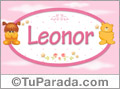 Nombre para bebé, Leonor