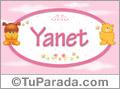 Nombre para bebé, Yanet