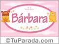 Nombre para bebé, Bárbara
