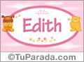 Nombre para bebé, Edith