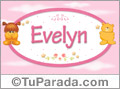 Nombre para bebé, Evelyn