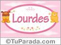 Nombre para bebé, Lourdes