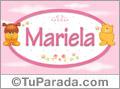 Nombre para bebé, Mariela