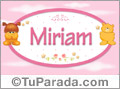 Nombre para bebé, Miriam