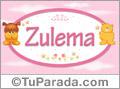 Nombre para bebé, Zulema