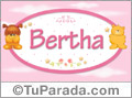 Nombre para bebé, Bertha.